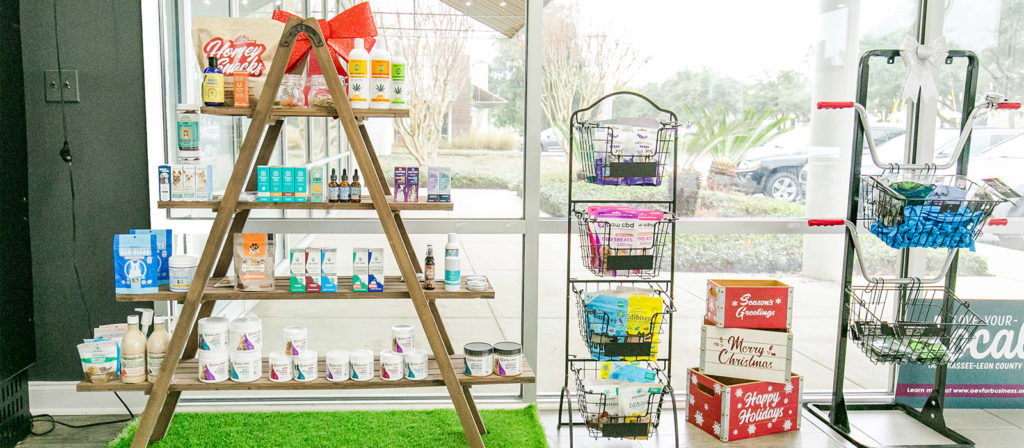 Store interior of pet products