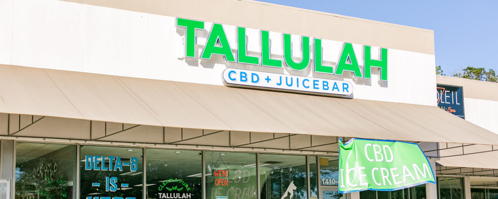 Tallulah Storefront exterior signage